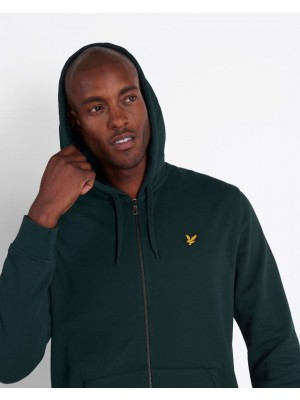 Lyle & Scott ML420VTR Z597 zip through hoodie Jade green