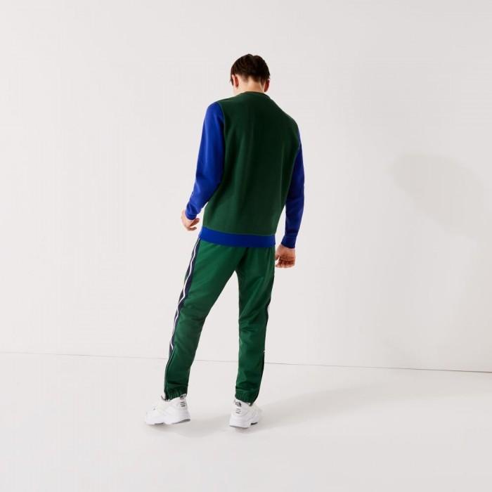 Pantalon de Survêtement Lacoste XH2096 6BE Vert Marine Blanc