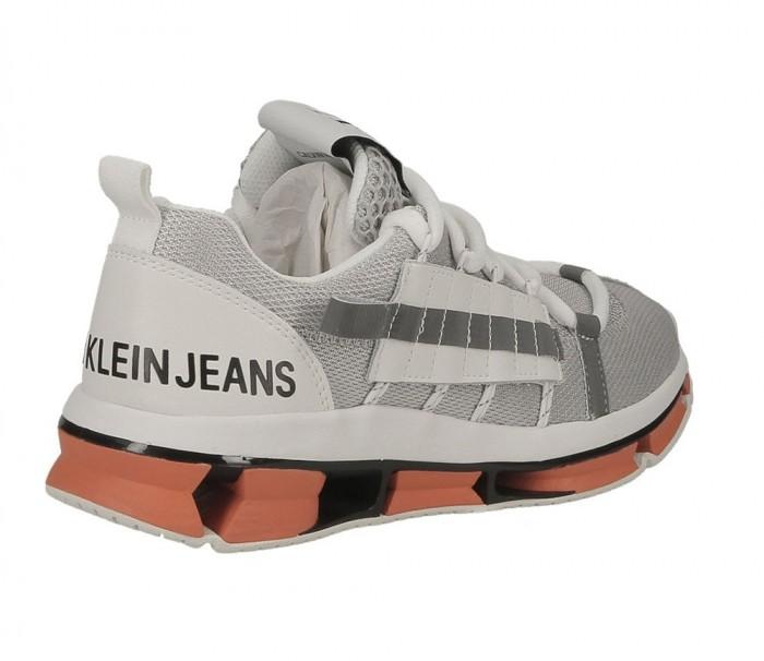 Calvin Klein Jeans Lex Mesh suede nylon webbing soft silver R8960