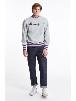 Sweatshirt Champion men grey purple  211685S18 EM004 S8IFA3IT39 LOXGM PRV