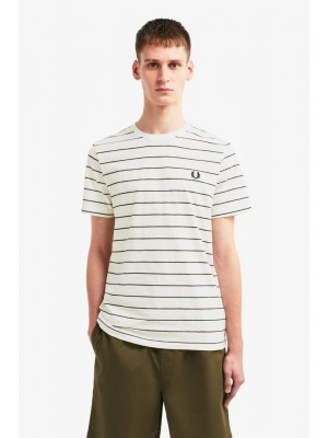 T-shirt Fred Perry Fine stripe M8532 129 snow white