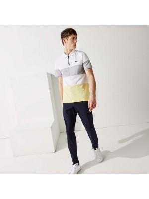 Polo Lacoste DH9582 3YG White Silver Chine Yellow