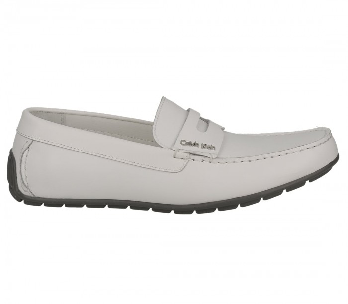 Calvin Klein Ivan brushed leather saffiano white F1912WHT
