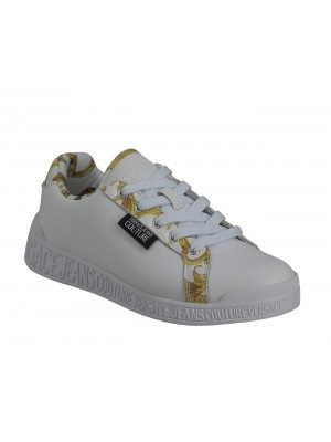 Basket Versace Jeans Couture Dame Penny Dis.Sp1 White E0Vwasp1 71973 Mci Printed Leather
