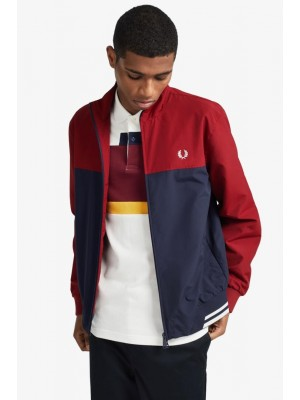 Blouson Fred Perry Brentham color-block Rosso J8515 850