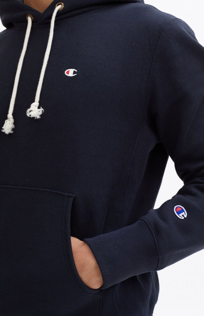 Sweatshirt Champion Europe hooded small logo 212575 BS501 NNY Navy Limited Edition