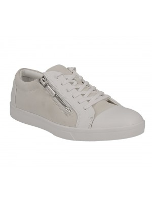 Calvin Klein Ibrahim brushed lea calf suede wht F1197WHT