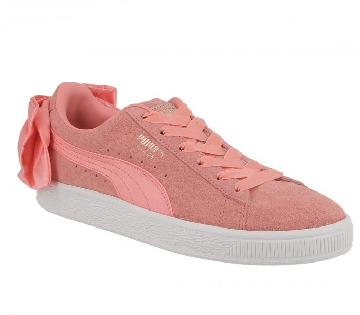 Puma Suede Bow wn's shell pink shell pink 367317 01