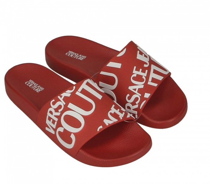 Versace Jeans Couture Linea Fondo Slide Dis.24 E0YVBSQ1 71352 LD1 Gummy Red