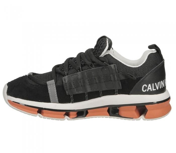 Calvin Klein Jeans Lex mesh suede nylon webbing black S0589 blk