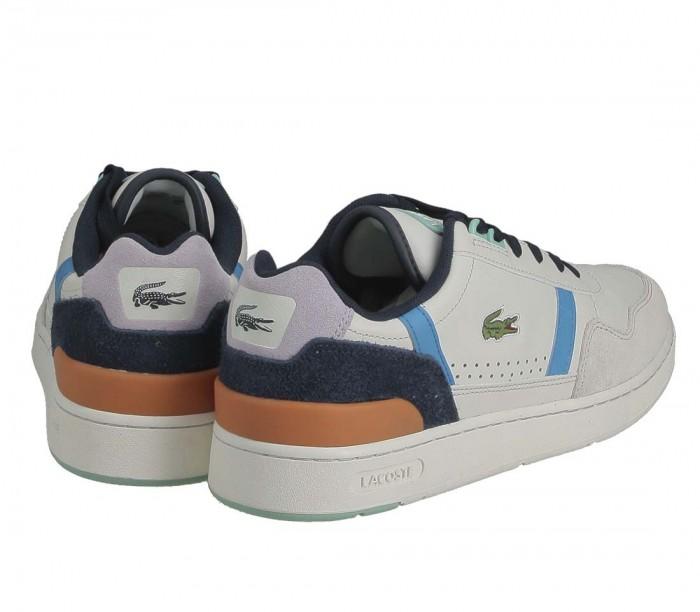Basket Lacoste T-clip 0121 P SMA off wht blu 7-42SMA00522Q9