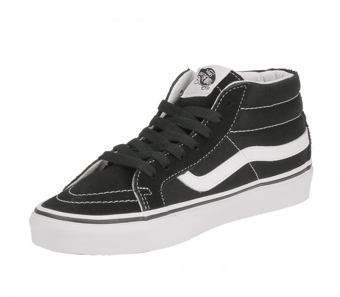 Vans SK8 mid reissue black true white noir blanc VA391F6BT color Noir