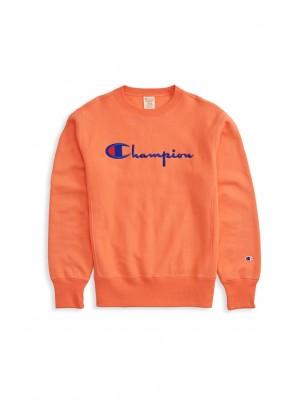 Sweatshirt Champion Europe crewneck big logo 212576 RS034 Apricot Limited Edition