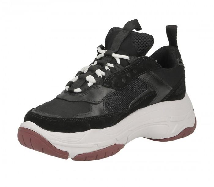 Basket Calvin Klein Jeans Marvin mesh lycra suede S1770 BLK Black