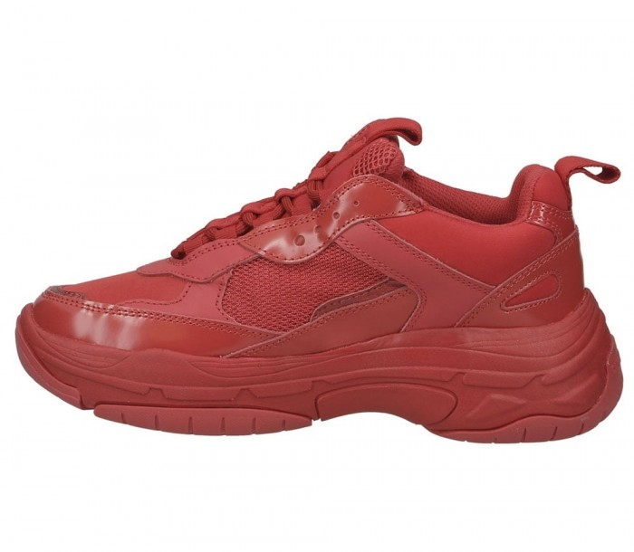 Basket Calvin Klein Jeans Marvin nylon metal calf nappa tomato S0591 TMT
