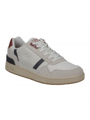 Basket Lacoste Homme T-Clip 120 2 Us Sma Off Wht Nvy Red