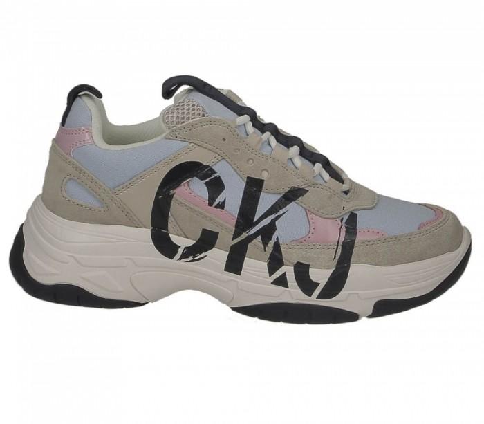 Basket Calvin Klein Jeans dame Marleen chambray blue stone B4R0869 450