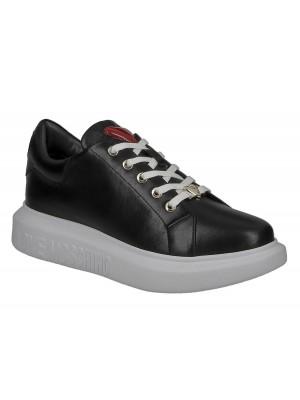 Love Moschino JA15494G0BJA0000 sneaker gomma40 vitello nero