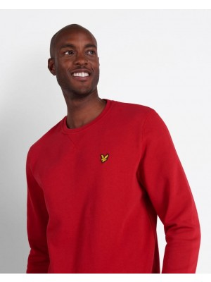 Sweatshirt Lyle & Scott Crew Neck Chilli Pepper Red ML424VTR W115
