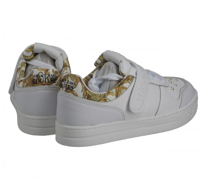 Basket Versace Jeans Couture Dame Court 88 Dis.8 E0Vwask3 71924 Mci Printed Leather