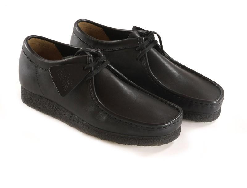 bottines clarks originals wallabee black smooth leather vente en ligne bruxelles belgique. Black Bedroom Furniture Sets. Home Design Ideas