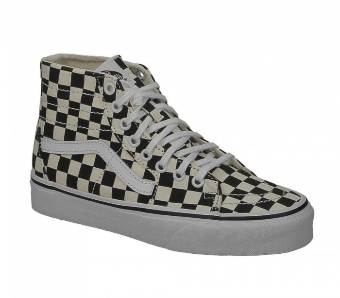 basket vans checkboard