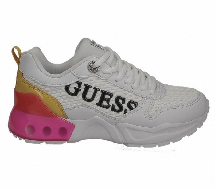 Basket  dame Guess Tandey 2 FL6TA2 FAB12 Whipi White Pink