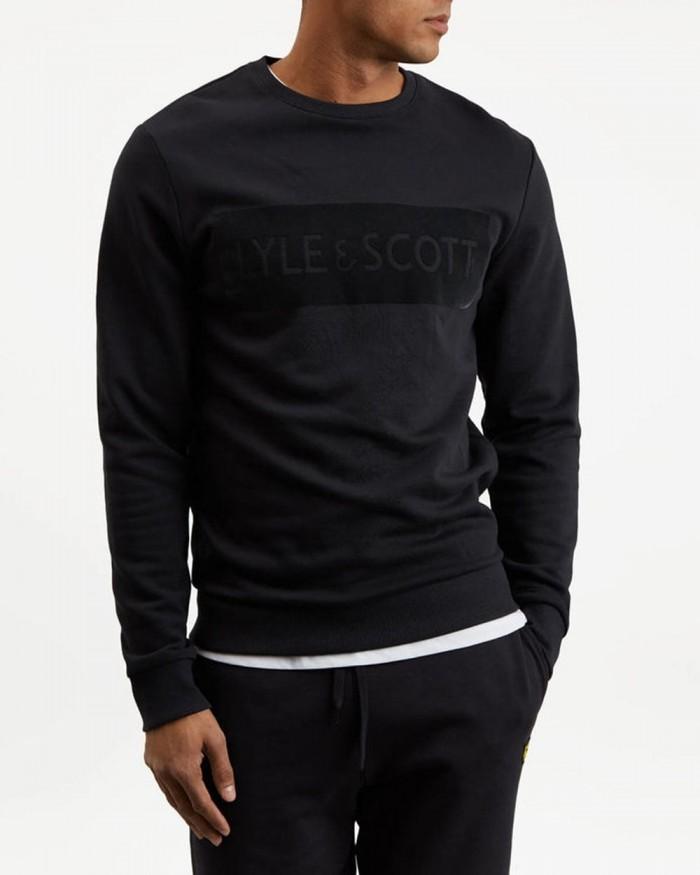 Sweatshirt Lyle & Scott Flock Logo True Black ML1020V 572