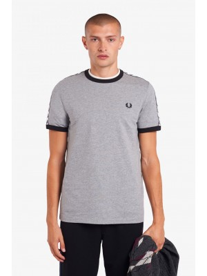 Fred Perry Taped Ringer T-Shirt Steel Marl M6347 291
