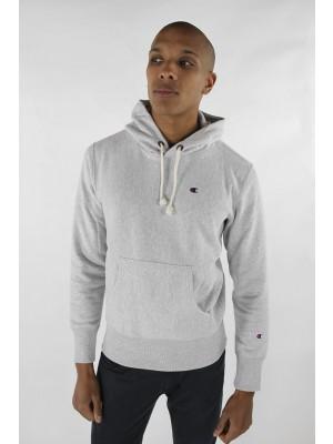 Champion Europe Hooded Sweatshirt small logo 210966 EM004 LOXGM grey Limited Edition (apparel)