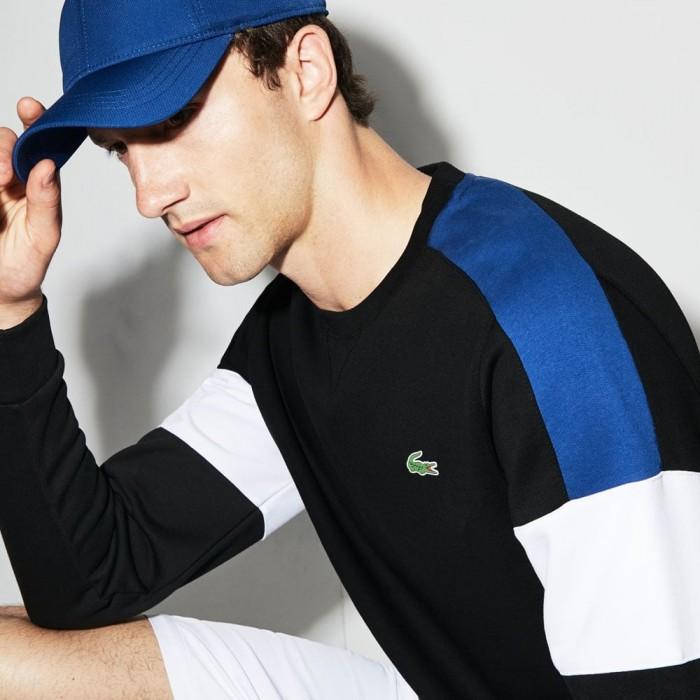 Sweatshirt SH9509 FQ8 noir encrier blanc