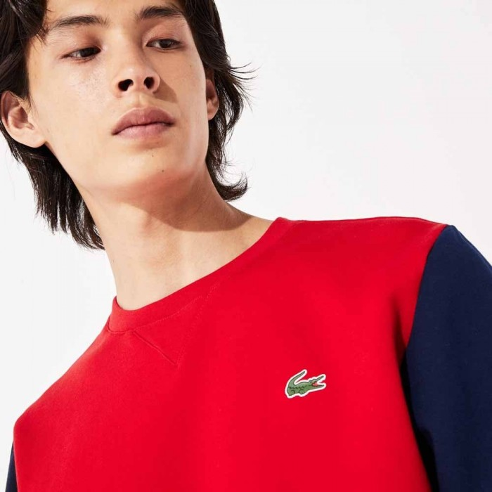 Sweatshirt Lacoste SH8654 SW7 Red Navy Blue White Red