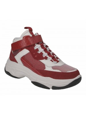 Basket Calvin Klein Jeans Mordikai White Red  Suede Nappa Mesh B4S0134 100