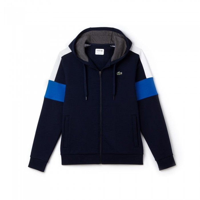 Sweatshirt zippé Lacoste SH9492 EHP marine blanc royale bitume