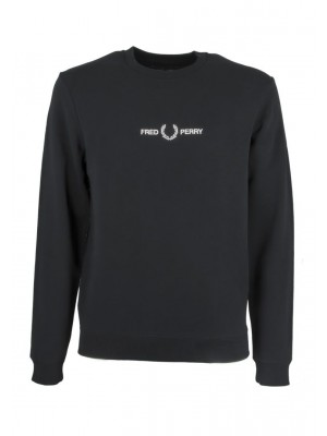 Sweatshirt Fred Perry graphique black M8629 102