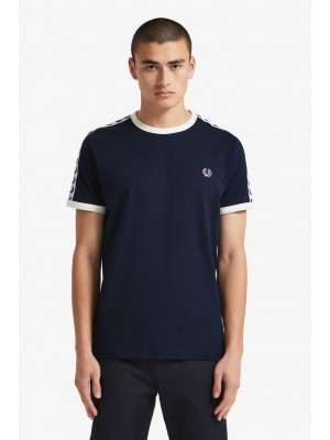 T-shirt Fred Perry Taped Ringer Carbon Blue M6347 584