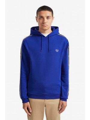 Fred Perry taped sleeve hooded Sweatshirt bright regal J7528 l88