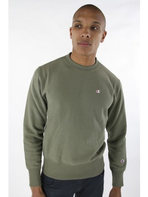 Champion Europe Sweatshirt small logo Crewneck 210965 GS518 DTO khaki Limited Edition (apparel)