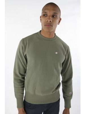 Champion Europe Sweatshirt small logo Crewneck 210965 GS518 DTO khaki Limited Edition (apparel)