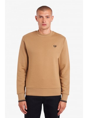 Fred Perry crew neck sweatshirt  M7535 363 warm stone