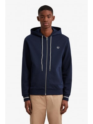 Sweatshirt Fred Perry Hooded Washed Navy J2531 875