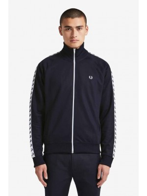Fred Perry Tapedtrack Jacket Carbon Blue J6231 885