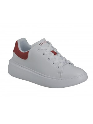 Basket Dame Guess Bradly White Red Fl6Brd Ele12 Whire