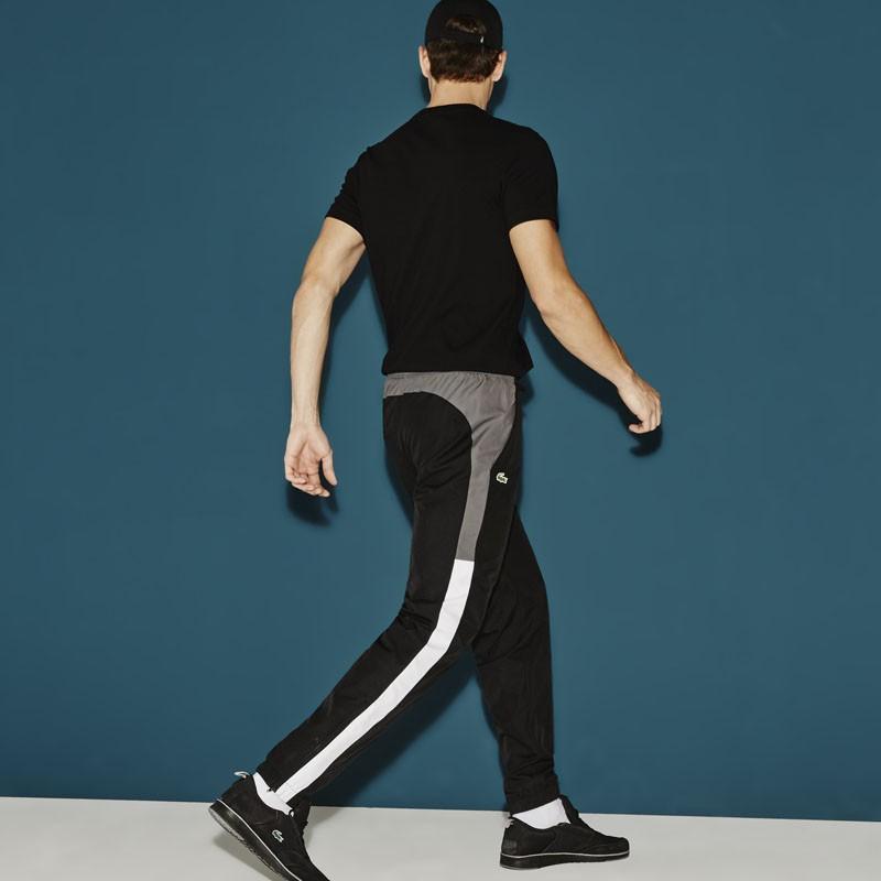 pantalon de surv tement lacoste xh5784 0jw noir charbon blanc vente en ligne bruxelles belgique. Black Bedroom Furniture Sets. Home Design Ideas