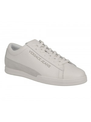 Versace Jeans Linea Fondo New Marc Dis 3 Leather suede stripe white E0YTBSL3 700998 003