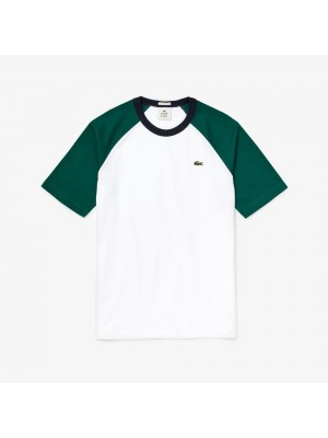 T-shirt Lacoste TH6185 KPD White Pine Navy Blue