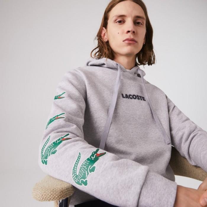 Sweatshirt Lacoste SH7221 CCA Gris chiné