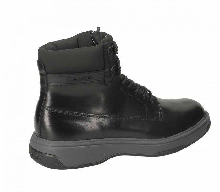 Calvin Klein Phyfe Black Waxy Calf Nylon B4F1173 001
