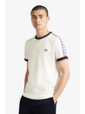 T-shirt Fred Perry Taped Ringer Snow White M6347 B34