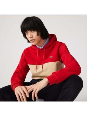 Sweatshirt Lacoste SH6900 1FU Red Viennese Navy Blue